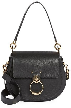 Chloé Medium Tess Leather Saddle Bag