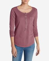 Eddie Bauer Women's Gypsum Henley Shirt - Solid