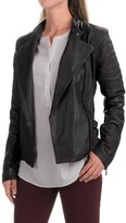 Bod & Christensen Short Collar Army Jacket - Leather, Full Zip (For Women)