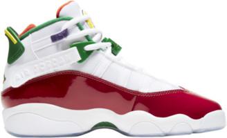 Jordan 6 Rings Basketball Shoes - White / Rush Blue Gym Red