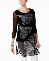 Alfani Petite Printed Tunic, Only at Macy's