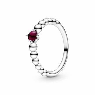 Pandora Women's Solitaire Ring 925 Sterling Silver with '- Size Q 198867C08-58