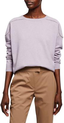 Brunello Cucinelli Cashmere Monili-Seamed Crewneck Sweater