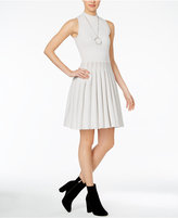 Rachel Roy Pleated Sweater Dress