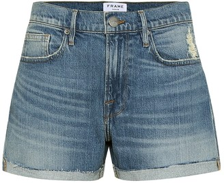 Frame Le Brigette high-rise denim shorts