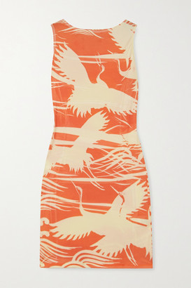 IOANNES Carrie Printed Stretch-jersey Mini Dress - Orange