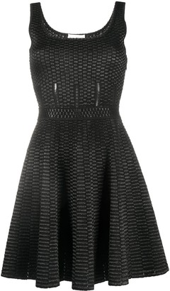Alexander McQueen Geometric Knitting Short Dress