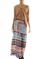 Johanne Beck - Silk Maxi Skirt Color: Multi Ethnic