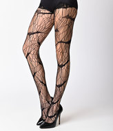 Leg Avenue Black Vampire Bat Web Net Pantyhose