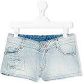 Une Fille - distressed denim shorts - kids - Cotton/Spandex/Elastane - 8 yrs