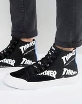 Huf X Thrasher Hi-top Trainers With All Over Logo
