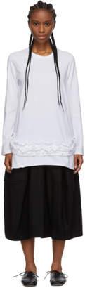 Comme des Garcons White Ruffle Long Sleeve T-Shirt