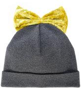 Federica Moretti velvet bow beanie hat