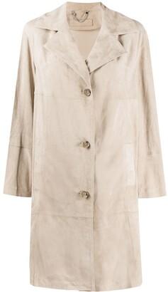 Desa 1972 Single Breasted Suede Coat