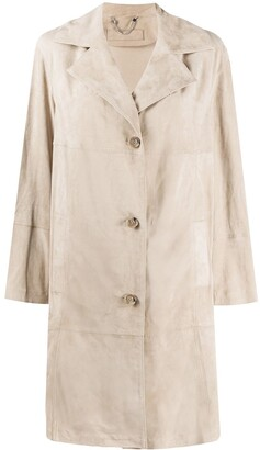 Desa 1972 Single Breasted Suede Coat