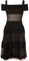Temperley London lace panel flare dress