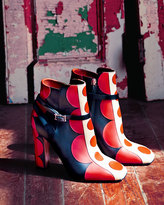 Valentino Polka Dot Leather Ankle Boot