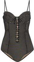 Fleur Du Mal Perforated Swimsuit - Black