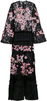 Romance Was Born cherry blossom beaded gown - women - Silk/Polyester/Sequin - 10