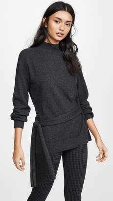 Club Monaco Tie Waist Mock Neck Cashmere Sweater