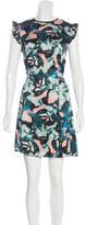 Erdem Abstract Print Mini Dress