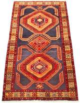 """One-of-a-Kind Niglaes Southwestern Hand-Knotted Runner 3'8"""" x 9'5"""" Wool Orange Area Rug World Menagerie"""