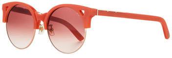 E.m. Pared Eyewear Up & At Semi-Rimless Round Sunglasses, Coral