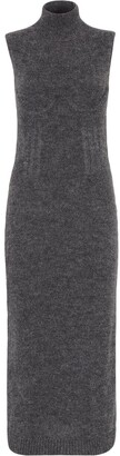 Fendi Knitted Sleeveless High Neck Dress