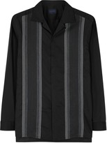 Lanvin Black Cotton And Silk Blend Shirt