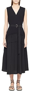 3.1 Phillip Lim Belted Shirred Midi Dress