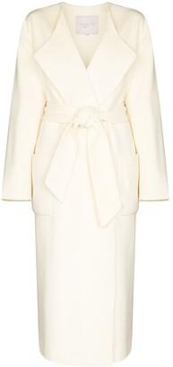 ENVELOPE1976 Tied Waist Wool Midi Coat