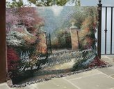 Manual Woodworker Thomas Kinkade Victorian Garden with Bible Verse Throw [Kitchen]