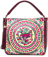 Xaa - embroidered tote bag - women - Cotton/Leather - One Size