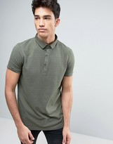 Brave Soul Polo Shirt with Bubble Effect