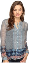 Lucky Brand Bracelet Blouse Women's Blouse