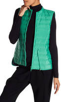 Lafayette 148 New York Kyra Channel Quilted Drawstring Vest