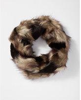 Express faux fur loop scarf