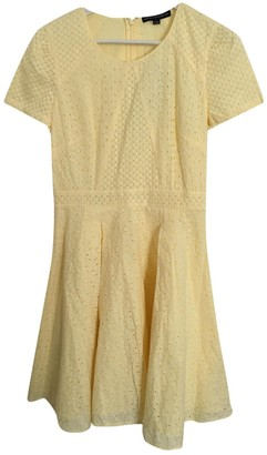 French Connection Yellow Cotton Dress for Women