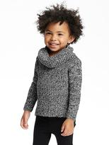 Old Navy Marled Cowl-Neck Tunic Sweater for Toddler