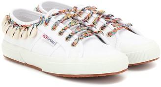 Alanui x SUPERGA embellished sneakers