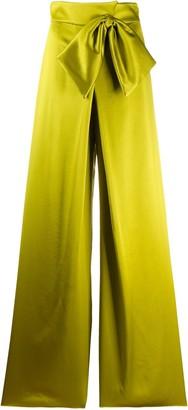 Alberta Ferretti waist-tied flared trousers