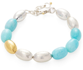 Gurhan Sterling Silver, 24K Yellow Gold & Amazonite Beaded Bracelet