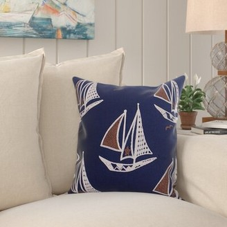 Harmon Bay Isle Home Embroidered Cotton Throw Pillow Cover Bay Isle Home