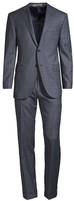 Corneliani Regular-Fit Academy Plaid Single-Breasted Wool Suit