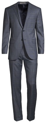 Corneliani Regular-Fit Academy Plaid Single-Breasted Wool Suit