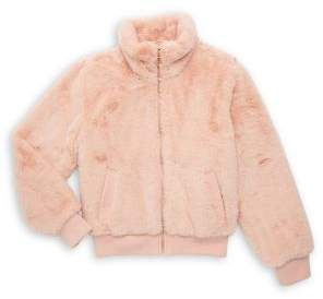 Urban Republic Girl's Faux Fur Zip-Front Jacket