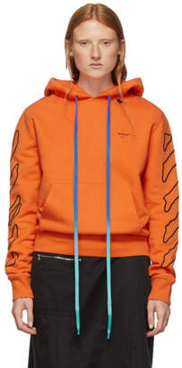 Off-White Off White Orange and Black Abstract Arrows Slim Hoodie