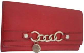 Lancel Red Leather Wallets