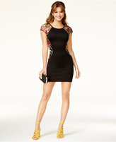 BCX Juniors' Embroidered Bodycon Dress, A Macy's Exclusive