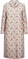 Nina Ricci Floral-Print Silk-Twill Coat